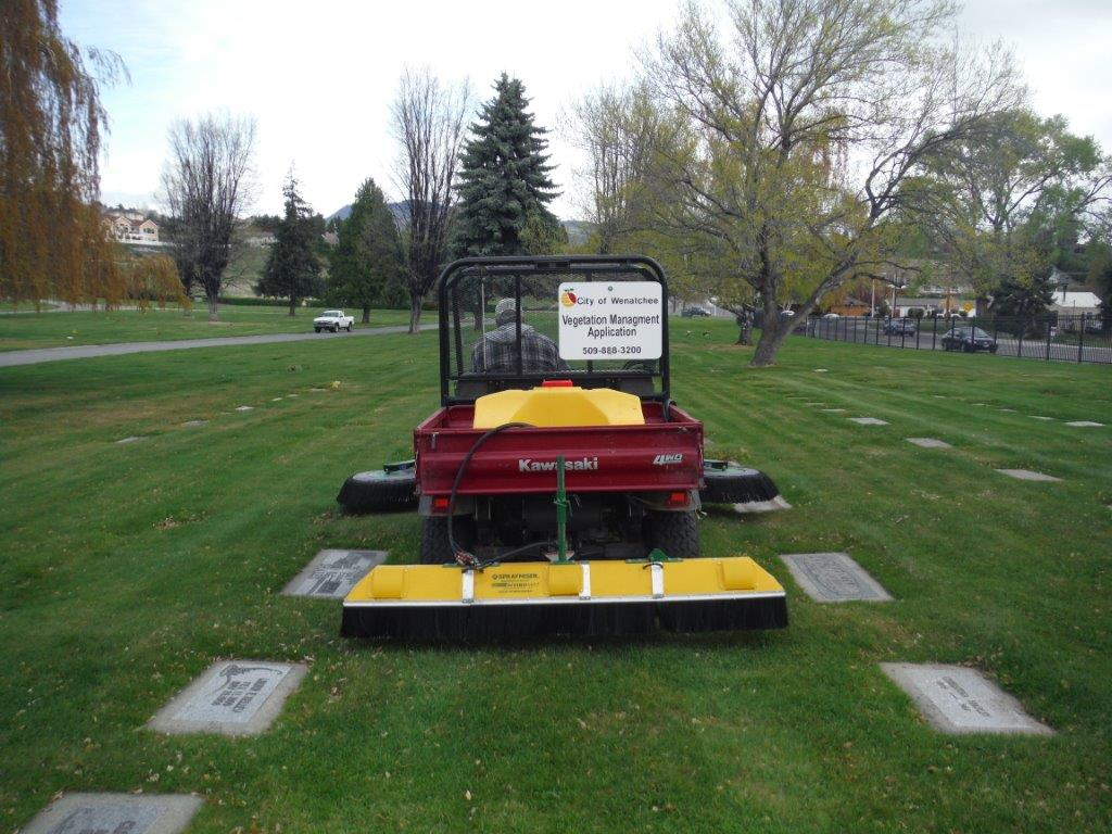 Maintaining the Cemetery Lawn