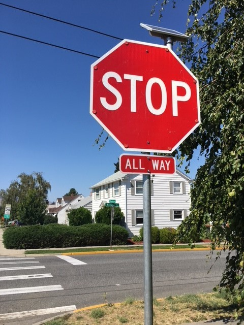 Princeton and Westwood Stop Sign