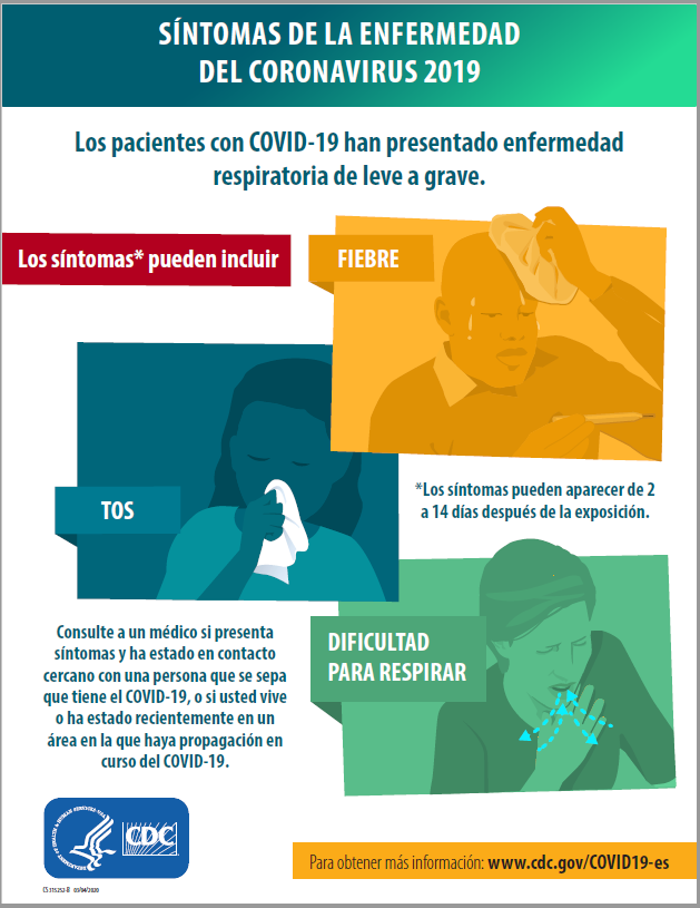 [Spanish] Symptoms of Coronavirus Disease 2019