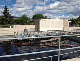 City of Wenatchee Wastewater Treatment Plant UV building and secondary clarifier
